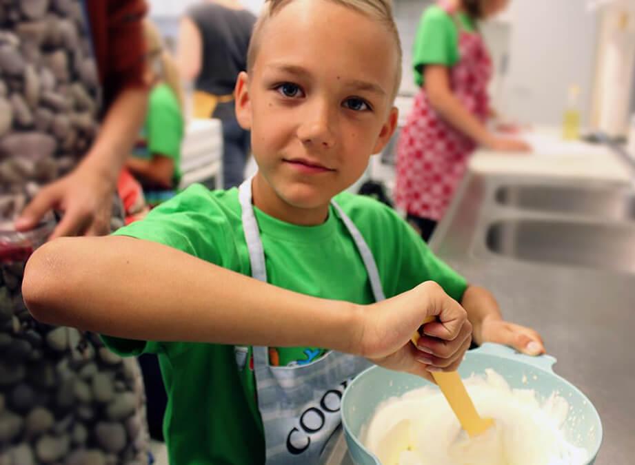 På matskolan används säsongens råvaror.